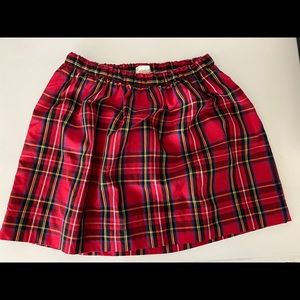 J. CREW CREWCUTS 6-7 Red Plaid Skirt NWT